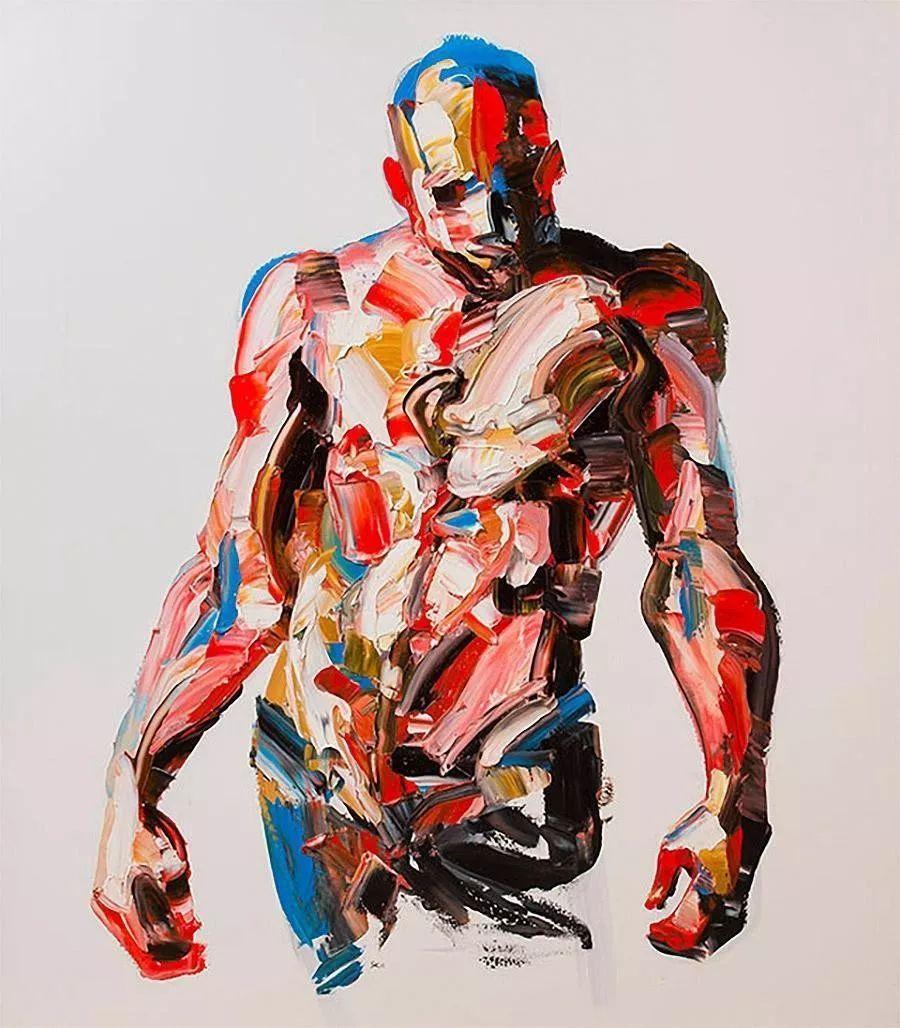 极具张力的大型刀画——伊朗艺术家Salman Khoshroo插图9