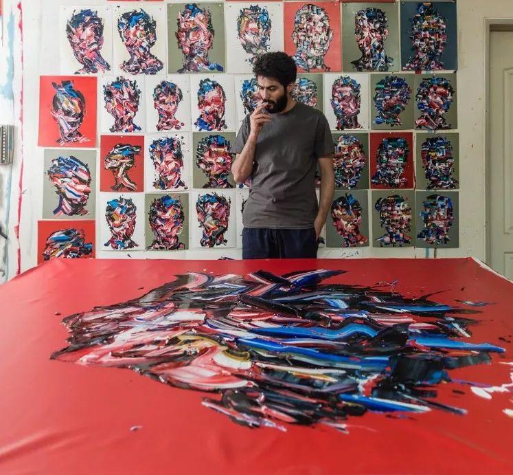 极具张力的大型刀画——伊朗艺术家Salman Khoshroo插图20