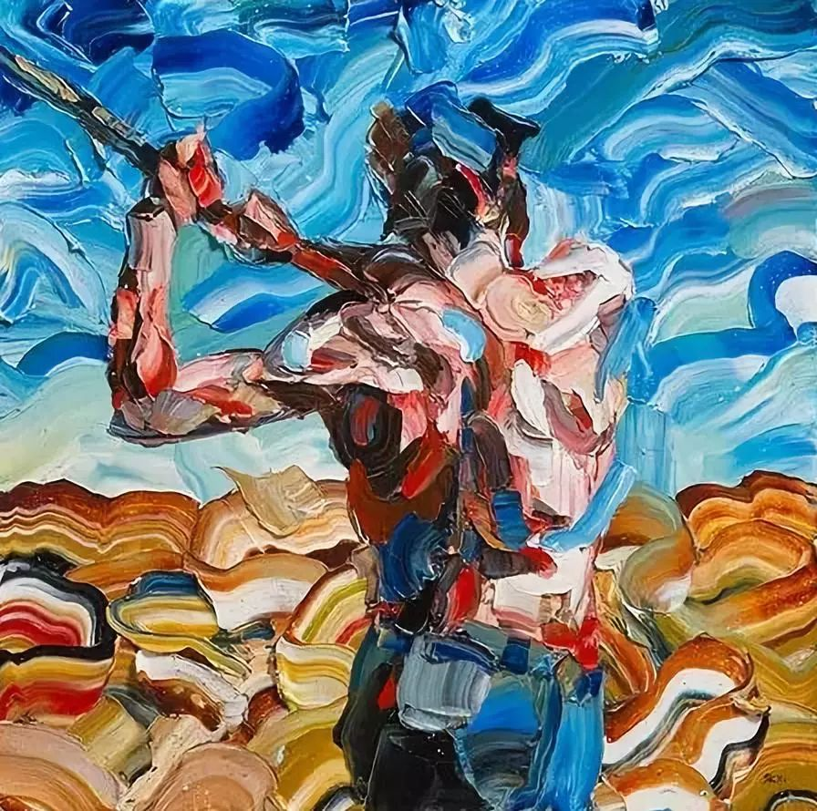 极具张力的大型刀画——伊朗艺术家Salman Khoshroo插图26