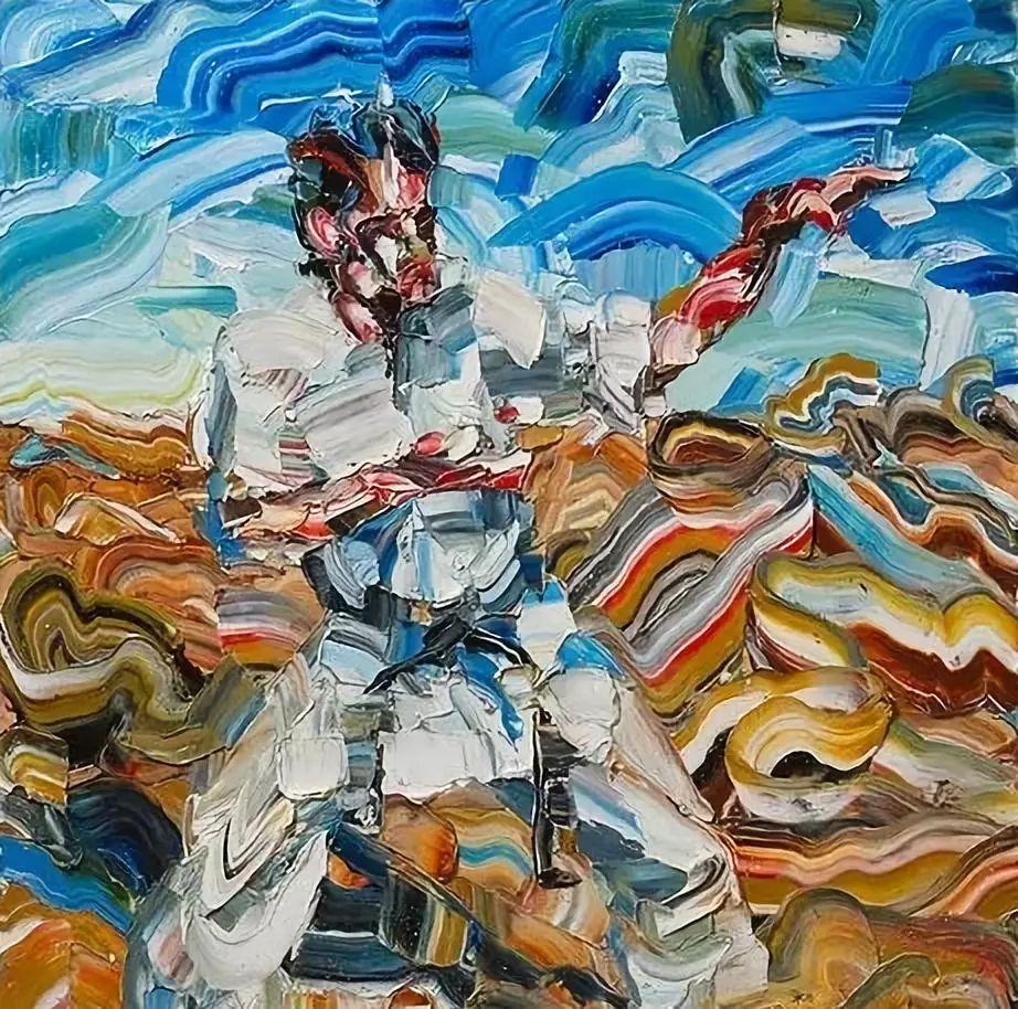 极具张力的大型刀画——伊朗艺术家Salman Khoshroo插图38