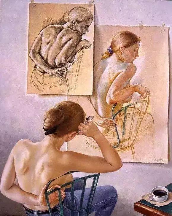 画人体,她一生都在画周围的女性朋友插图51