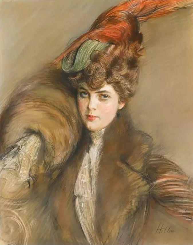他的作品多为巴黎当红女郎的肖像插图2