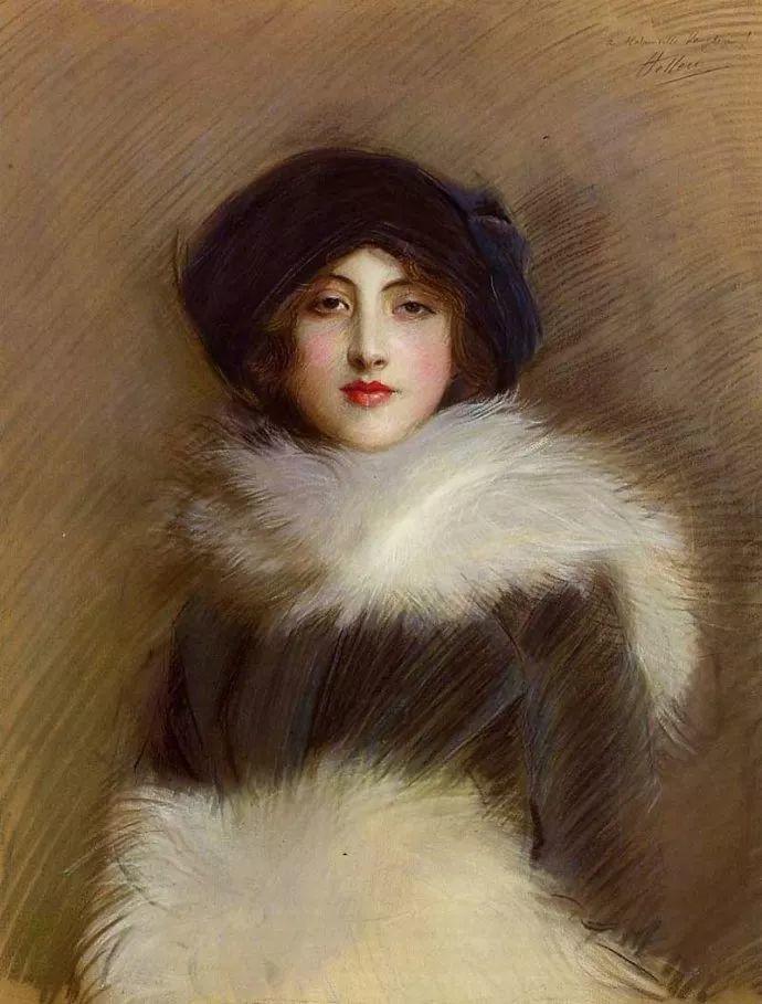 他的作品多为巴黎当红女郎的肖像插图3