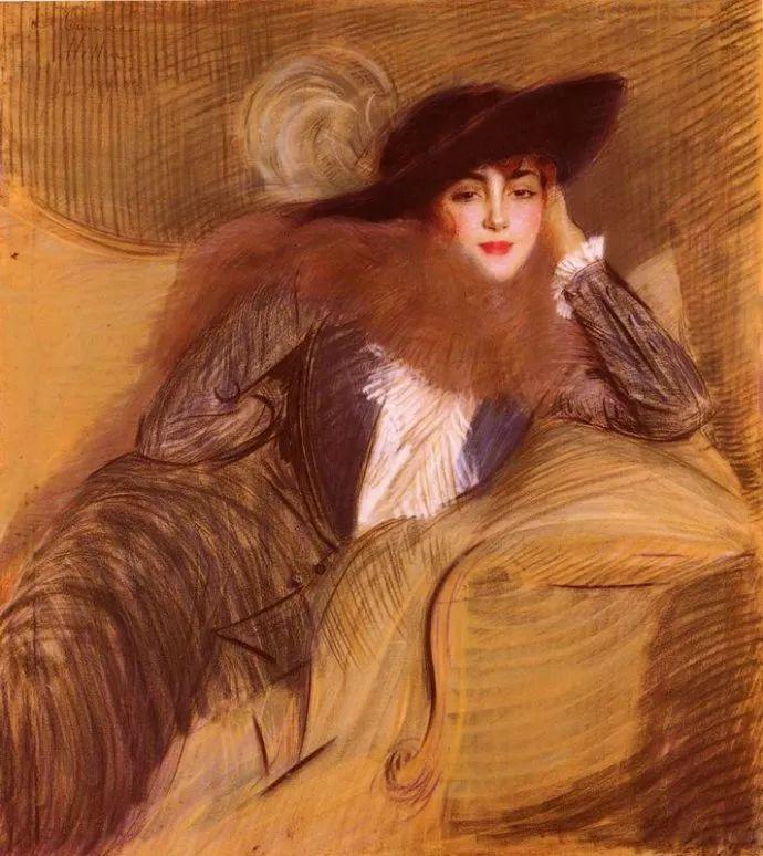 他的作品多为巴黎当红女郎的肖像插图5