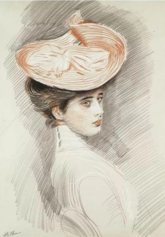 他的作品多为巴黎当红女郎的肖像插图17