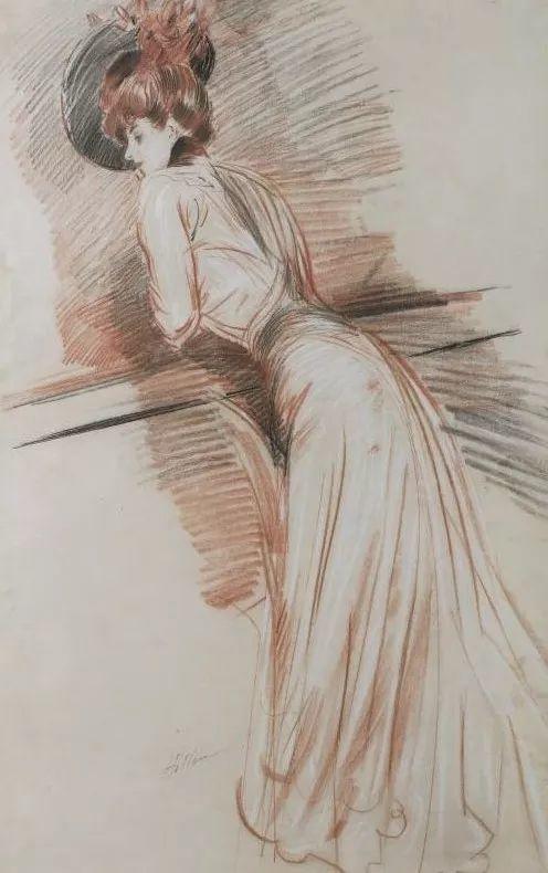 他的作品多为巴黎当红女郎的肖像插图19