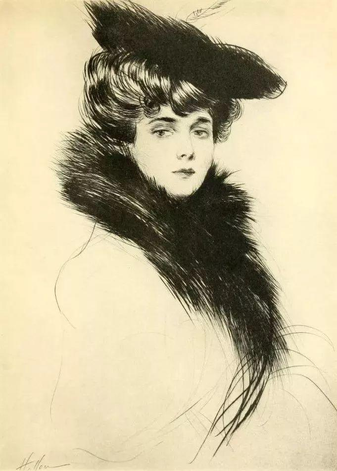 他的作品多为巴黎当红女郎的肖像插图23