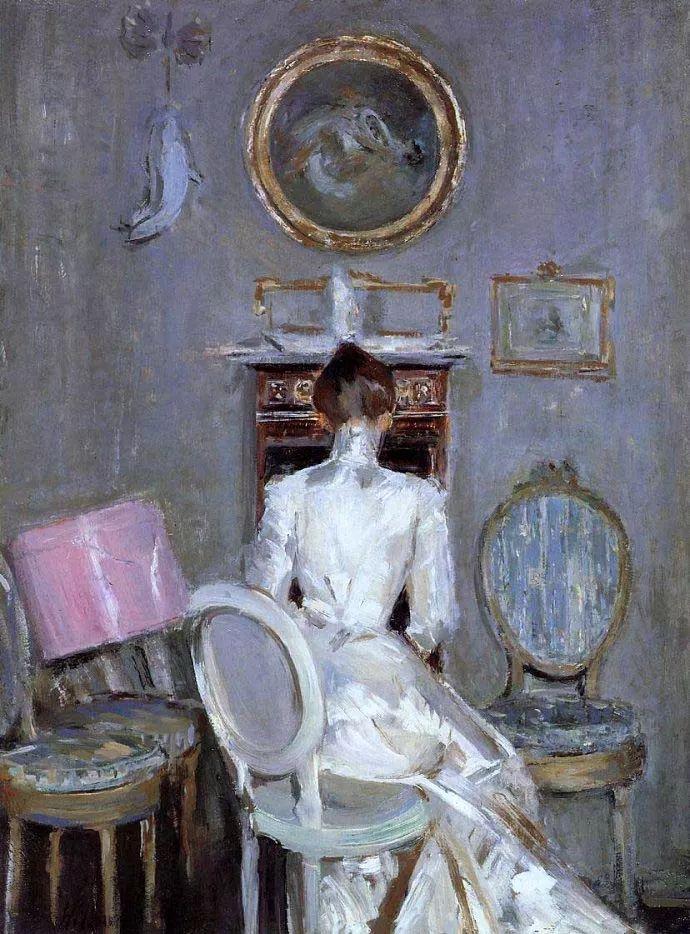 他的作品多为巴黎当红女郎的肖像插图25