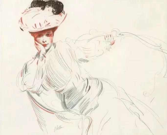 他的作品多为巴黎当红女郎的肖像插图45