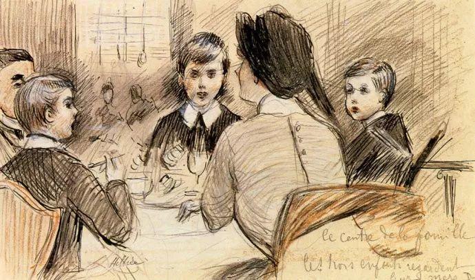 他的作品多为巴黎当红女郎的肖像插图46