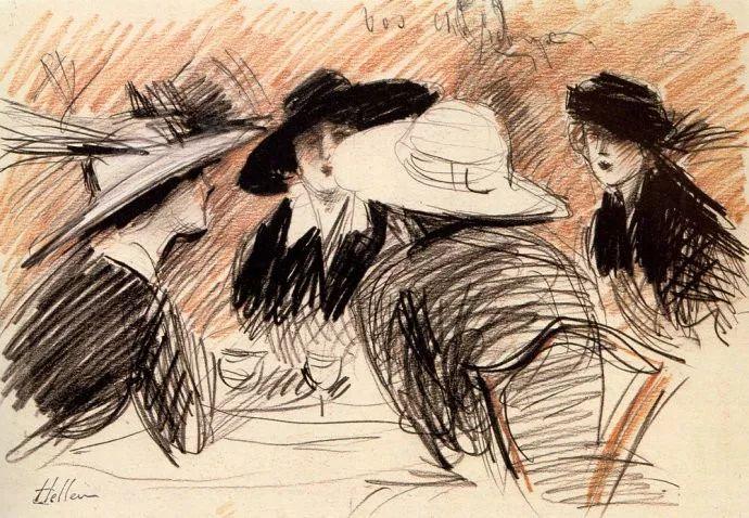 他的作品多为巴黎当红女郎的肖像插图47