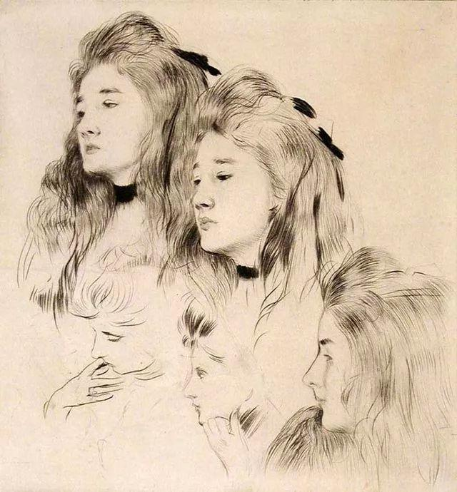 他的作品多为巴黎当红女郎的肖像插图49