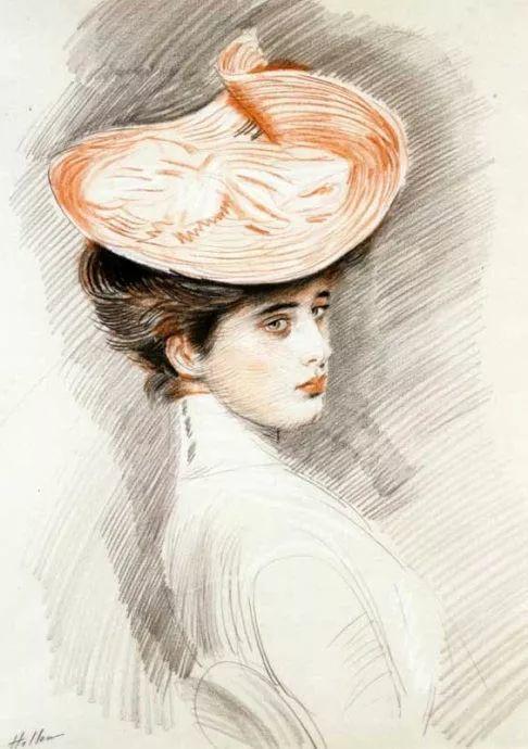 他的作品多为巴黎当红女郎的肖像插图50