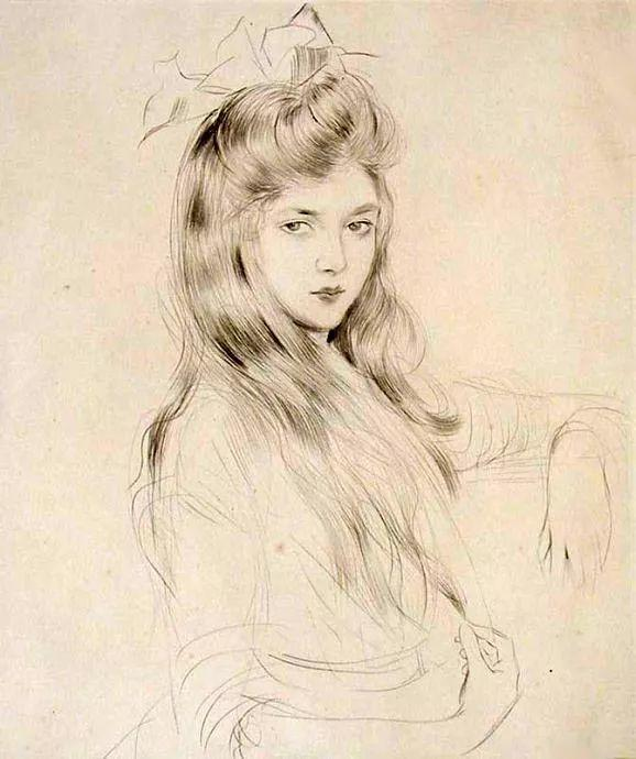 他的作品多为巴黎当红女郎的肖像插图51