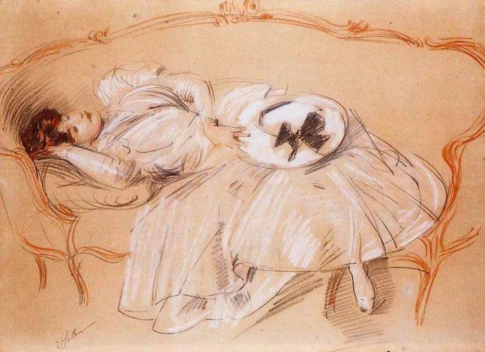 他的作品多为巴黎当红女郎的肖像插图53