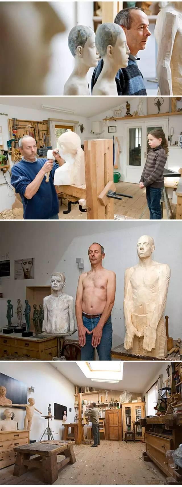 他硬把一桩桩木头弄成人体女神,惊艳世界,首次来中国就轰动美院插图36