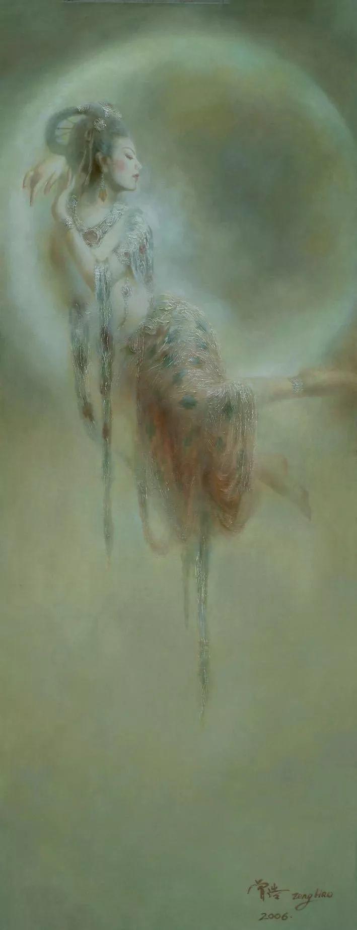 敦煌美女图——曾浩作品欣赏插图13