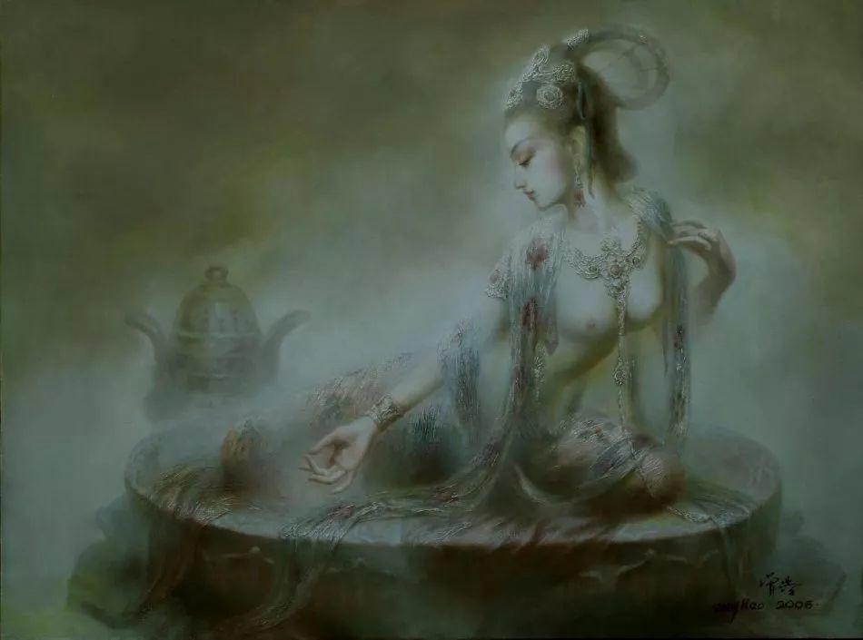 敦煌美女图——曾浩作品欣赏插图17