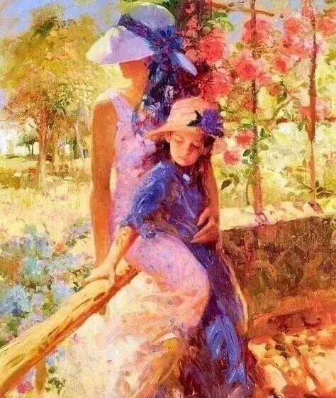 精选60幅不同风格的油画美女插图16