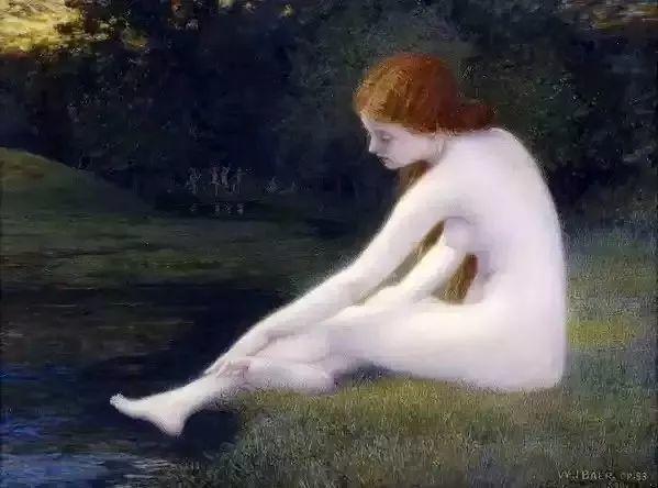 精选60幅不同风格的油画美女插图31