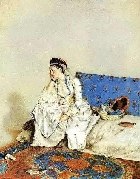 精选60幅不同风格的油画美女插图40
