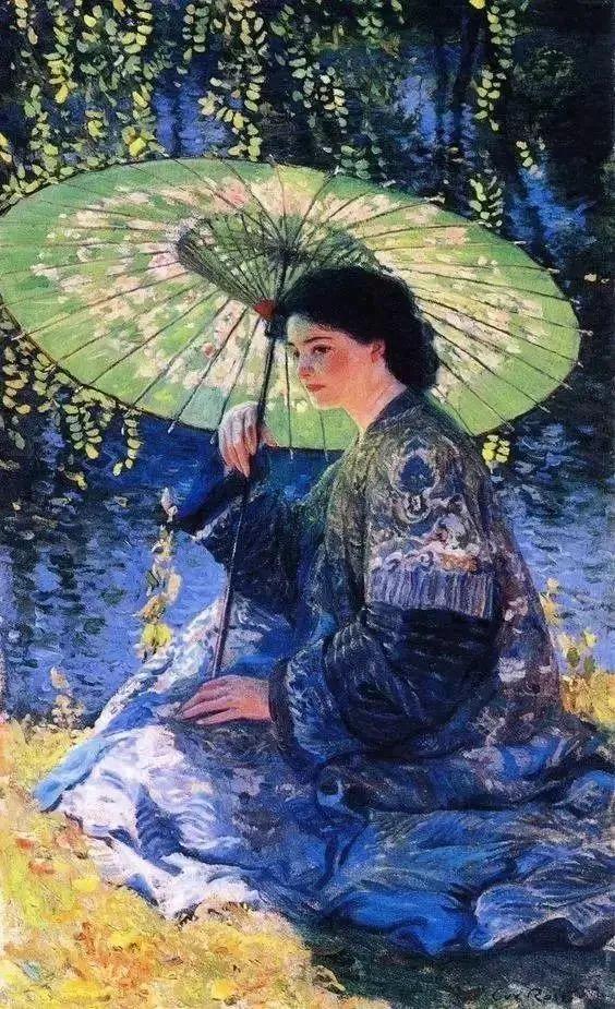 精选60幅不同风格的油画美女插图44