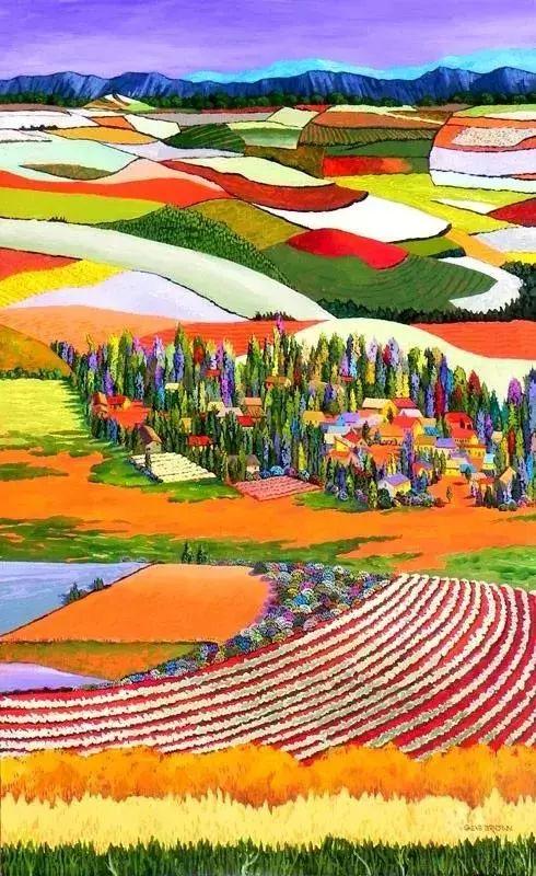 色彩绚丽的风光画作——Gene Brown插图3