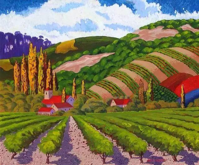 色彩绚丽的风光画作——Gene Brown插图27