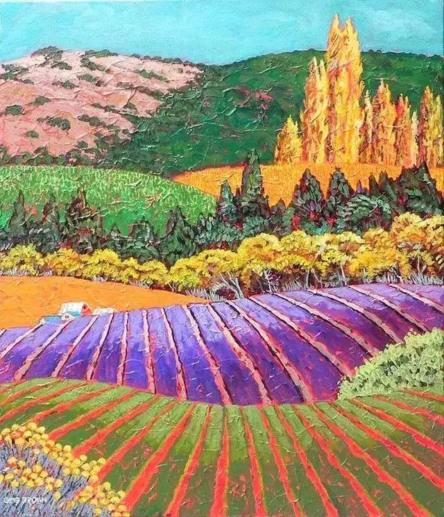 色彩绚丽的风光画作——Gene Brown插图35