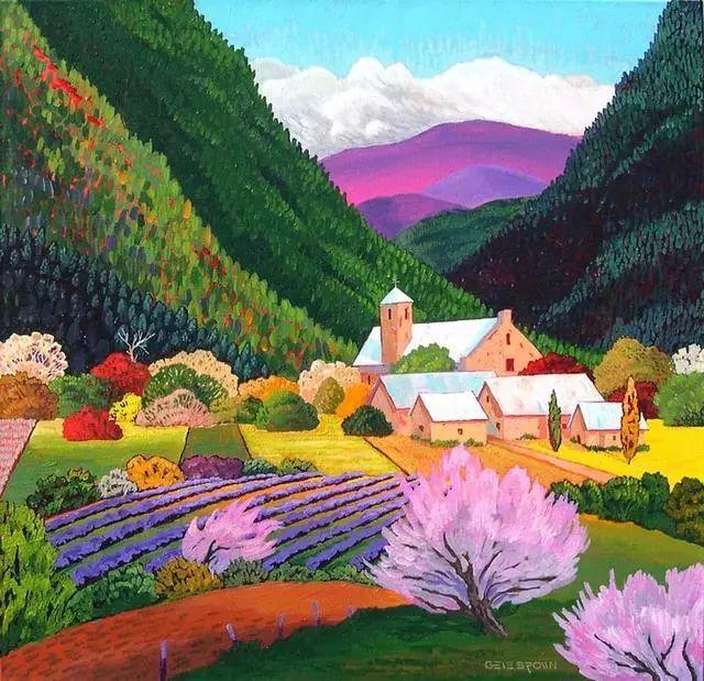 色彩绚丽的风光画作——Gene Brown插图41