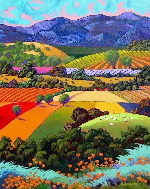色彩绚丽的风光画作——Gene Brown插图43