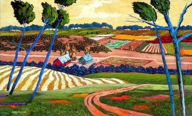 色彩绚丽的风光画作——Gene Brown插图45