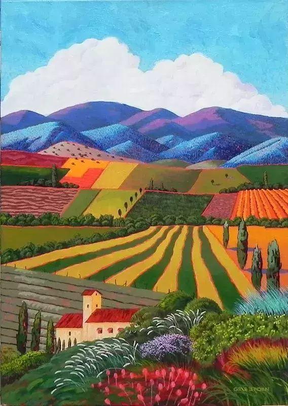 色彩绚丽的风光画作——Gene Brown插图53