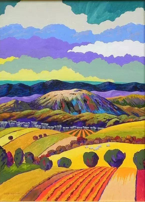 色彩绚丽的风光画作——Gene Brown插图57