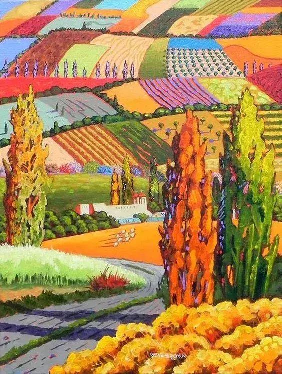 色彩绚丽的风光画作——Gene Brown插图59