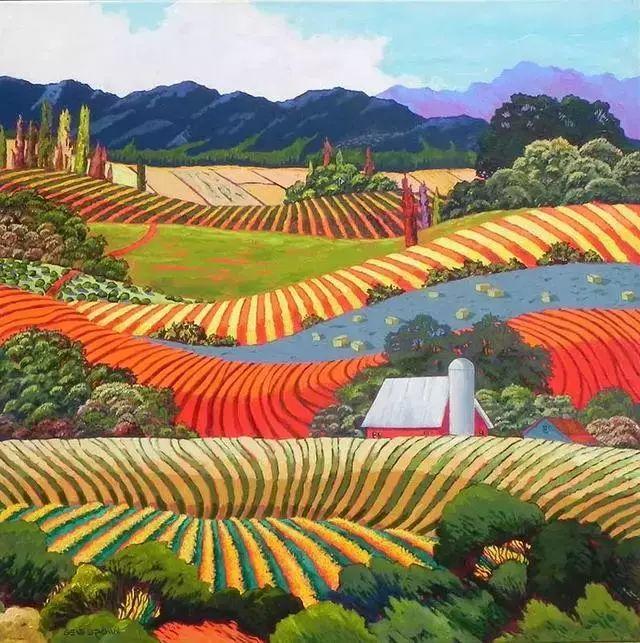 色彩绚丽的风光画作——Gene Brown插图69