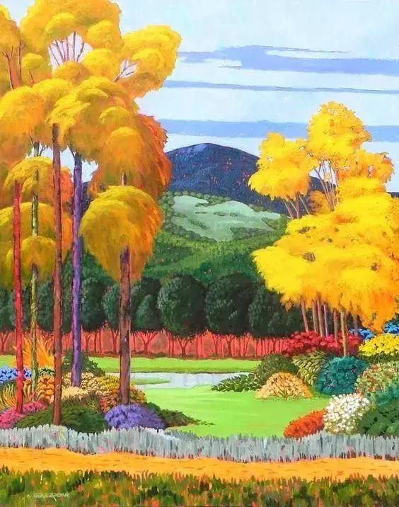 色彩绚丽的风光画作——Gene Brown插图73