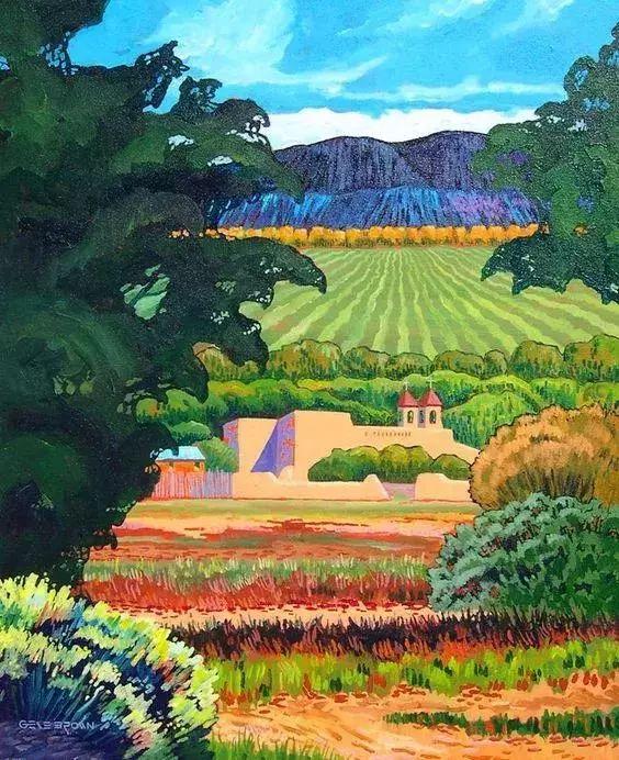 色彩绚丽的风光画作——Gene Brown插图77