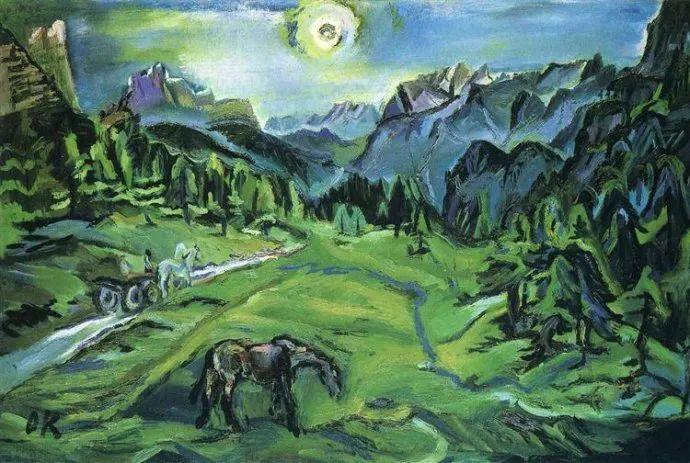 他以其强烈的表现主义肖像画和风景画而闻名插图13