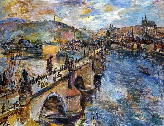 他以其强烈的表现主义肖像画和风景画而闻名插图53