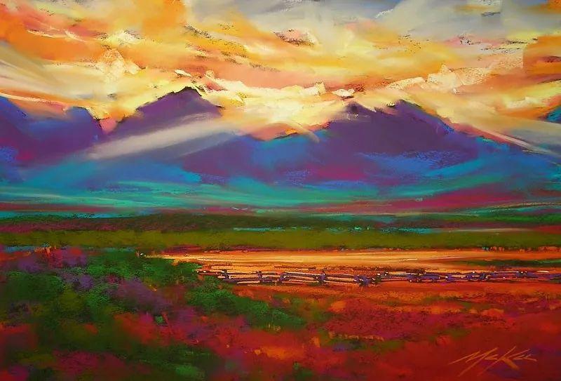 这位大神的风景画如此炫彩插图8