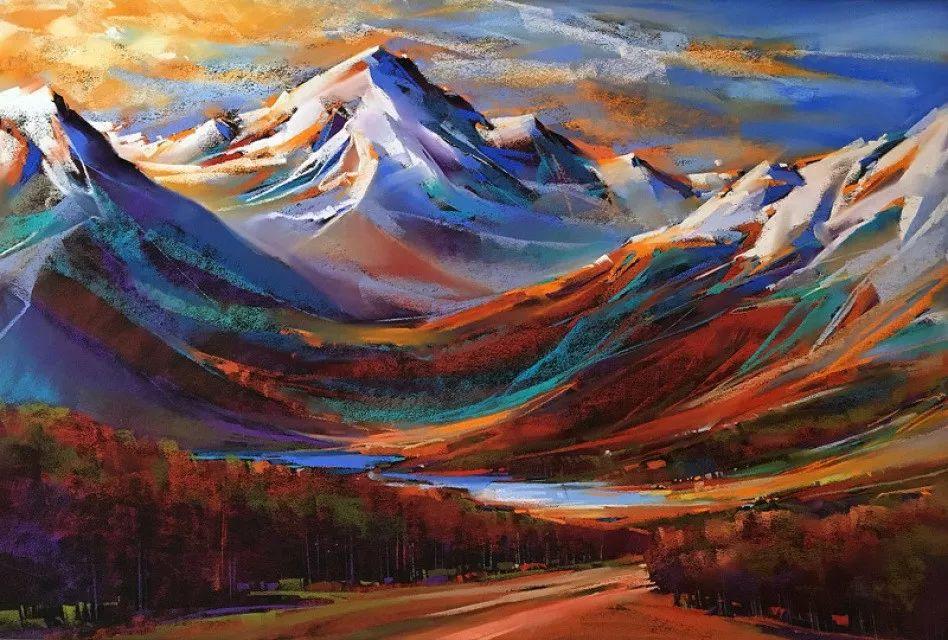这位大神的风景画如此炫彩插图13