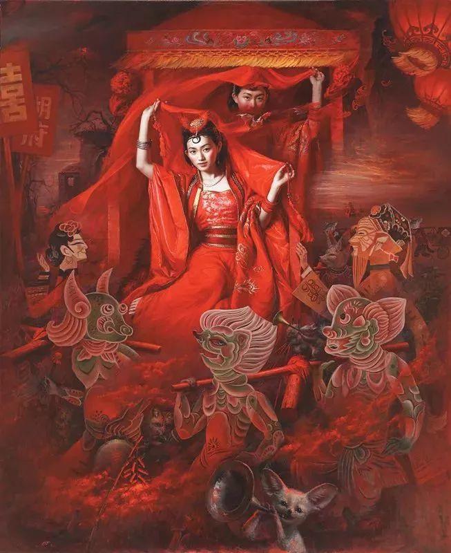 色彩斑斓的神鬼狐妖——安静聊斋油画插图