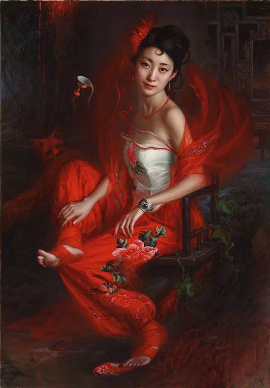 色彩斑斓的神鬼狐妖——安静聊斋油画插图6