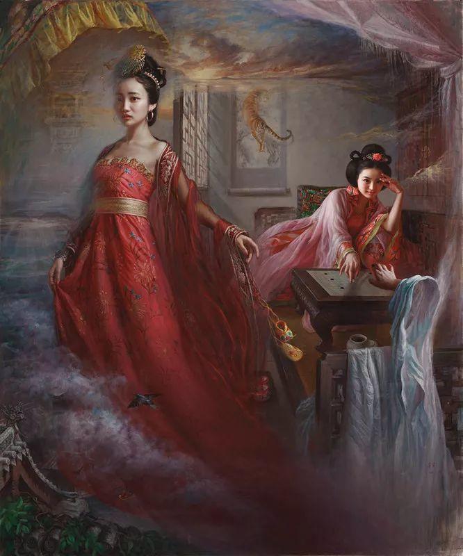色彩斑斓的神鬼狐妖——安静聊斋油画插图8