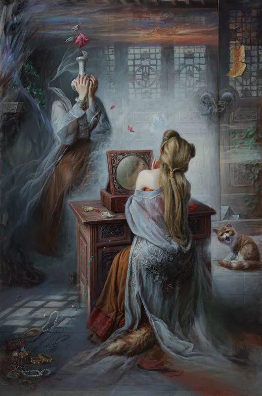 色彩斑斓的神鬼狐妖——安静聊斋油画插图11