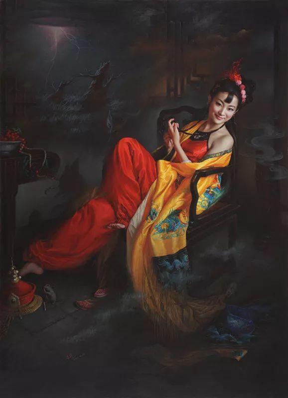 色彩斑斓的神鬼狐妖——安静聊斋油画插图13