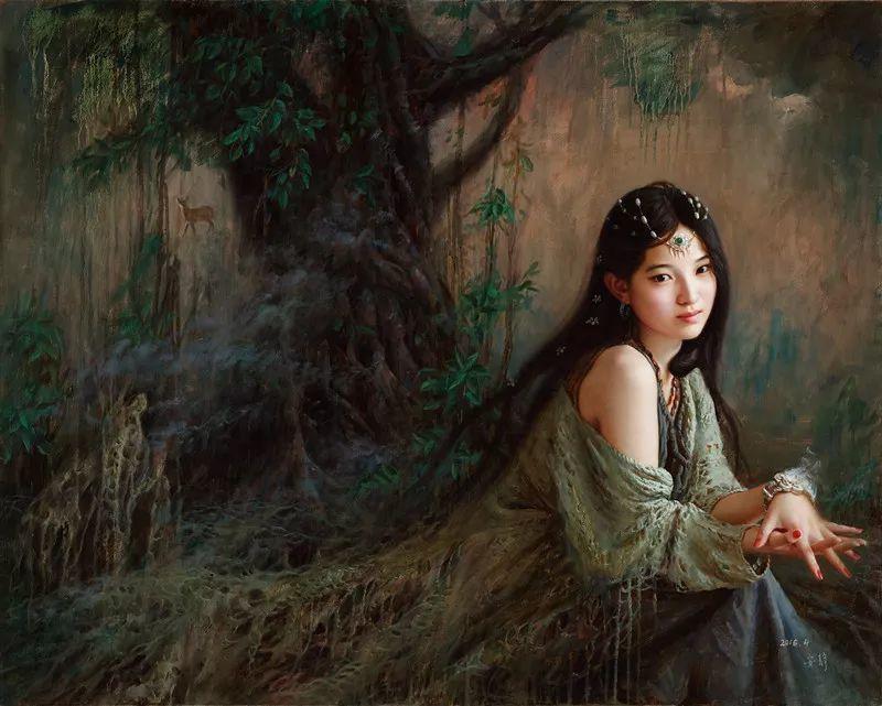 色彩斑斓的神鬼狐妖——安静聊斋油画插图14