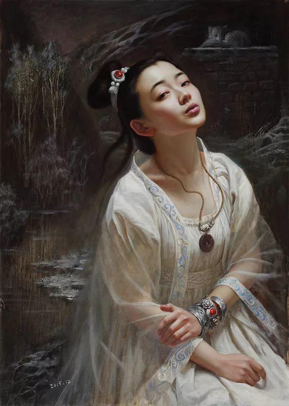 色彩斑斓的神鬼狐妖——安静聊斋油画插图16