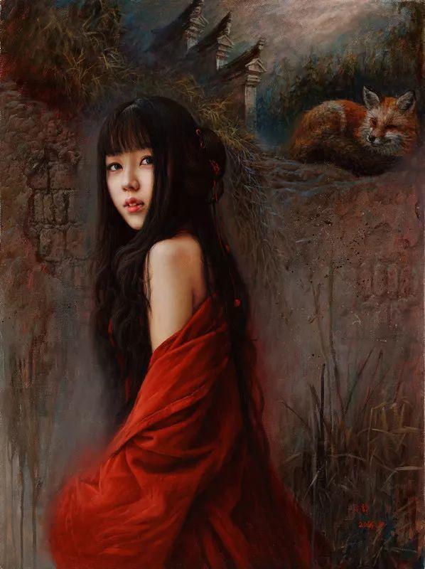 色彩斑斓的神鬼狐妖——安静聊斋油画插图17
